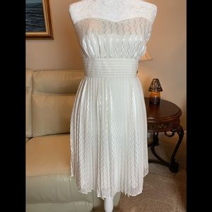 WHBM White Pleated Dress